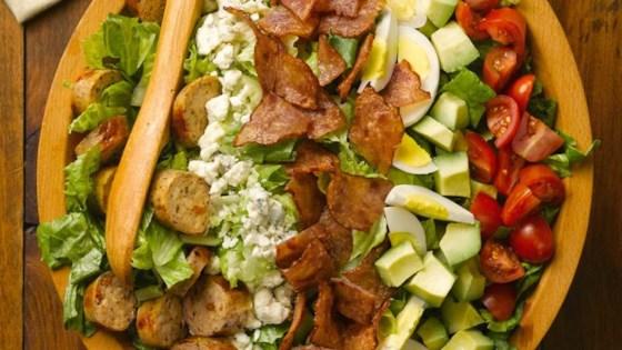 Chicken Bacon Cobb Salad with Sundried Tomato Chicken Sausage