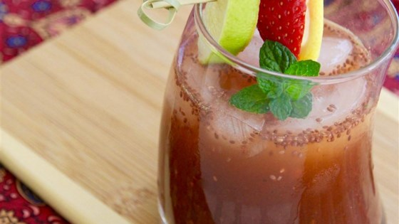 Strawberry Mint Chia Fresca