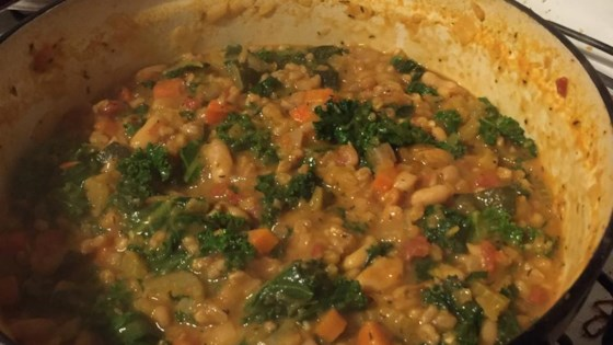 Kale, White Bean, and Farro Stew