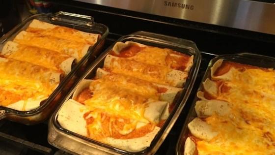 Creamy Cheddar Beef Enchiladas