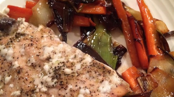 Salmon with Caramelized Leeks