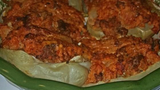 Stuffed Mirlitons (Chayote Squash) Casserole