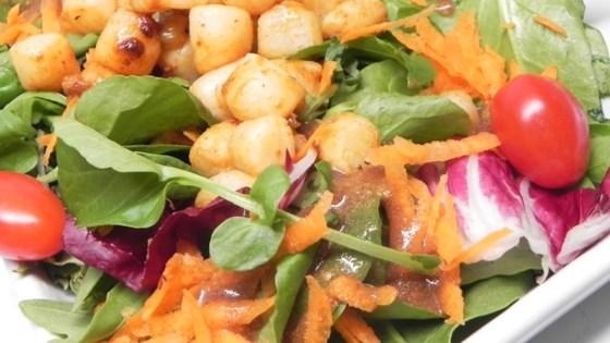 Sauteed Scallops with Watercress and Corn Salad