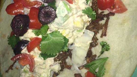 Avocado Salad with Bacon and Sour Cream