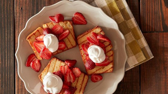Grilled Strawberry Shortcake with Sweet Cream