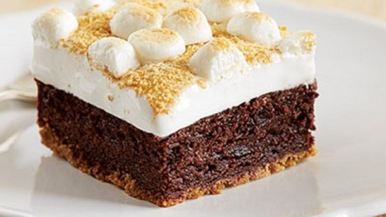 Fudgy S'mores Brownie Bars