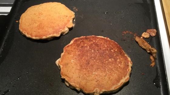 Oatmeal Rhubarb Pancakes