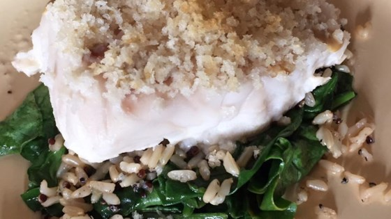 Baked Halibut with Crispy Panko