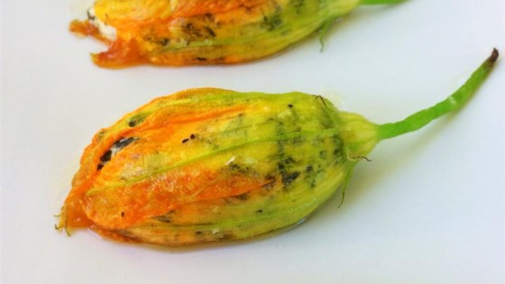 Oven Roasted Stuffed Squash Blossoms