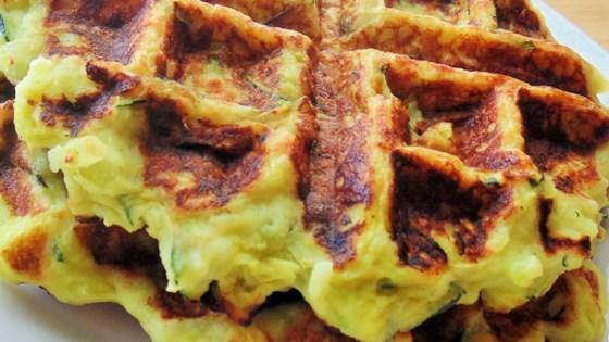 Zucchini Waffles (Green Waffles)