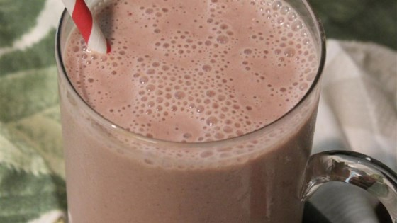 Chocolate, Strawberry, and Banana Smoothie