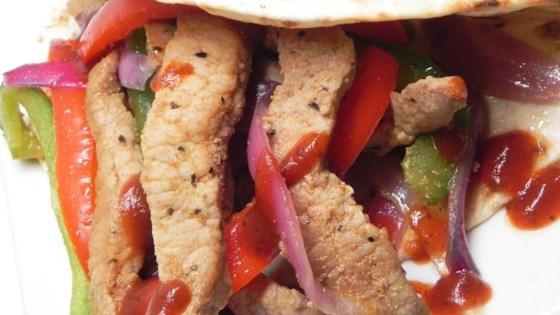 Barbeque Pork Fajitas
