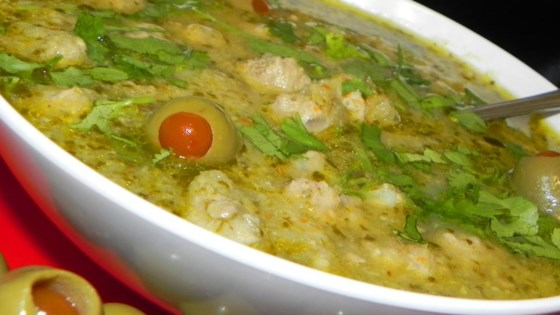 Meatball and Olive Stew (Albondigas Verdes)