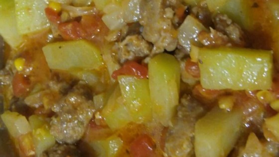 Chayote and Sausage Stew