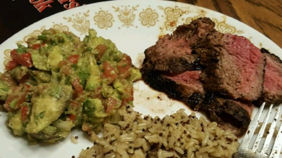 Flank Steak with Avocado Salsa
