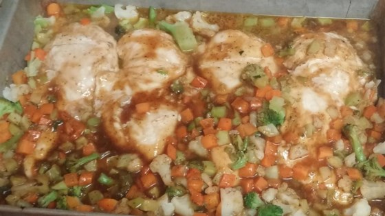 Chicken with Plum Glaze