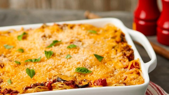 Baked Spaghetti from Borden® Cheese