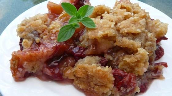Rhubarb-Raspberry Crunch