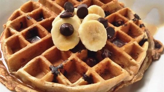 Banana-Nut-Chocolate-Chip Waffles