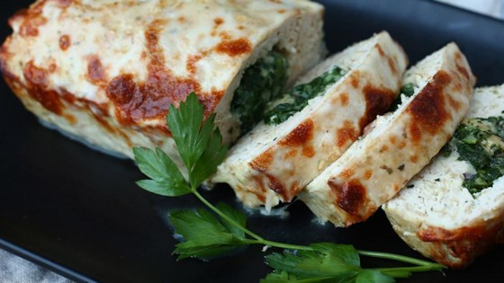 Spinach Stuffed Turkey Meatloaf