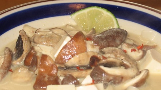 Thai Red Curry Tofu Soup