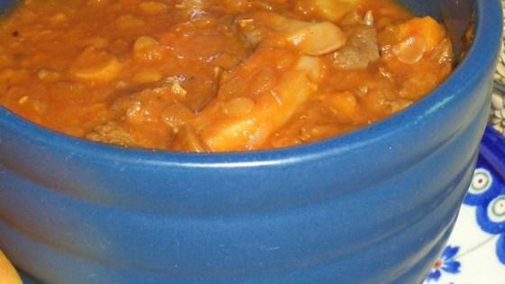 Beefy Lentil Vegetable Soup