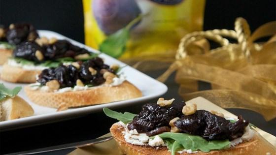 Balsamic Prune & Goat Cheese Bruschetta