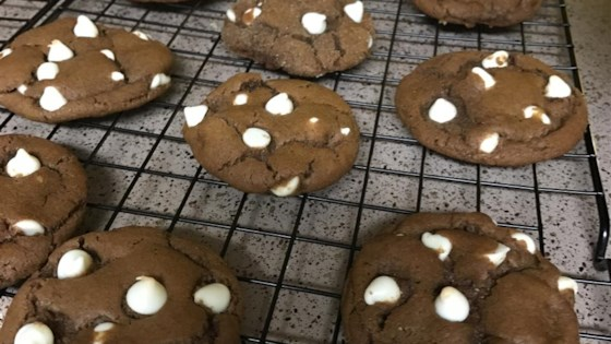 Chewy White Chocolate Chip Gingerbread Cookies