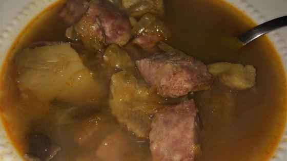 Slovak Sauerkraut Christmas Soup