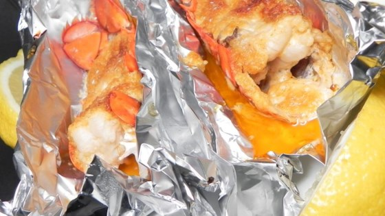 Baked Lobster Tails with Parmesan Topping