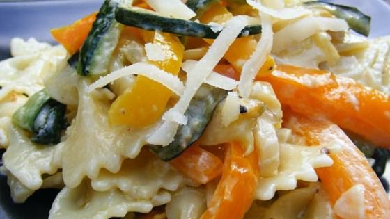 Zucchini with Farfalle