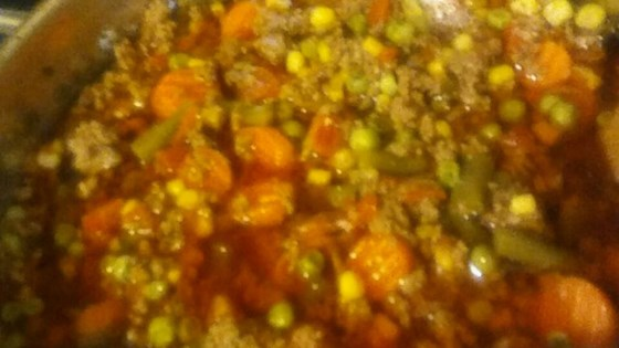 Ground Beef And Vegetable Soup