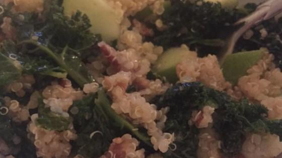 Kale, Apple, Avocado, and Bacon Salad