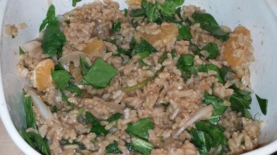 Orange Vinaigrette Brown Rice Salad