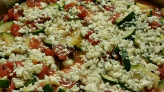 Zucchini and Blue Cheese Side