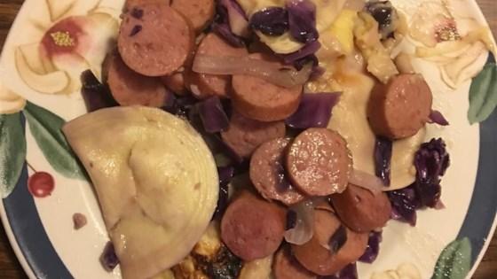 Polish Sausage and Pierogy Haluski