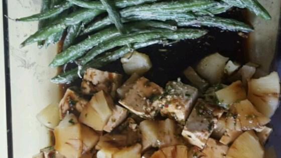 Teriyaki Tofu with Pineapple