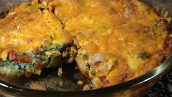 Loaded Vegetarian Quiche
