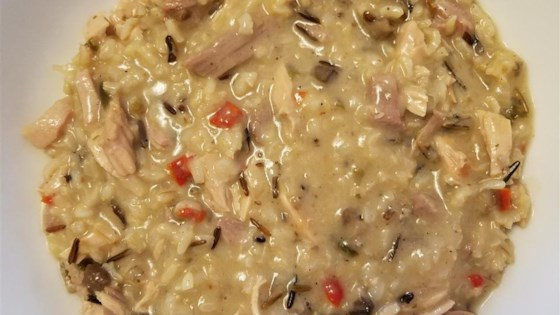 Wild Rice and Leftover Turkey Casserole