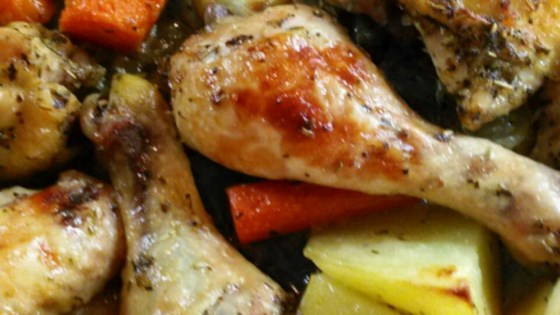 Emily's Herb Roasted Chicken and Vegetables