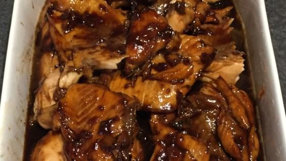 Salmon with Brown Sugar and Bourbon Glaze