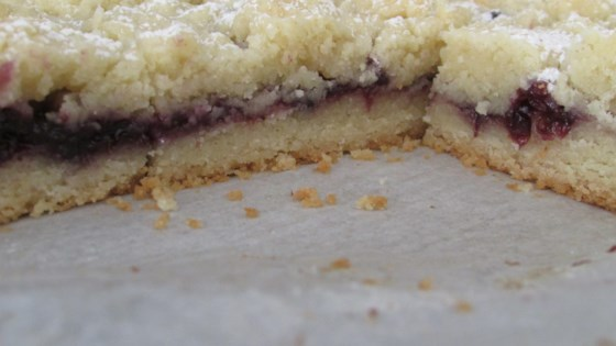 Blackberry Shortbread Bars