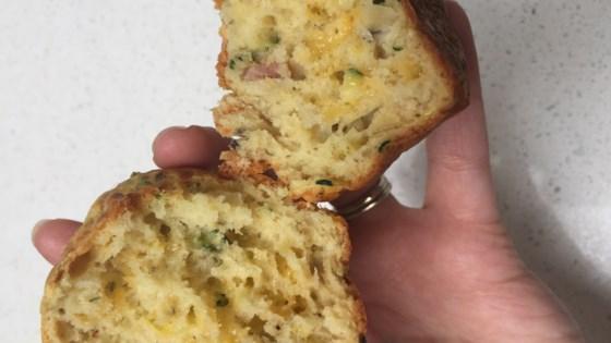 Savory Cheddar Zucchini Muffins