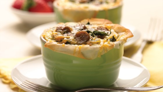 Baked Egg Cups with Country Style Chicken Sausage