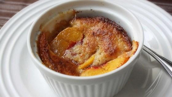 Basil Peach Pepper Parmesan Cobbler