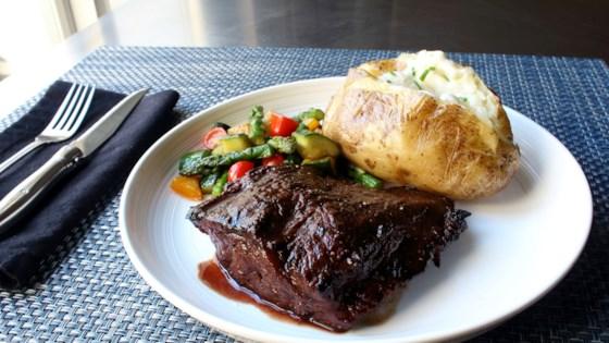 Grilled Flat Iron Steak Recipe Allrecipes Com
