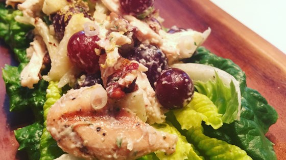 Chicken Salad With Apples Grapes And Walnuts