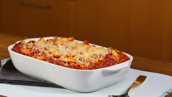 Easy Cheese-Topped Meatball Casserole Recipe