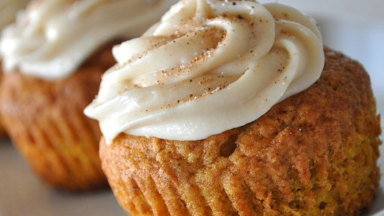 Pumpkin Cupcake Recipes pumpkin spice cupcakes recipe - allrecipes