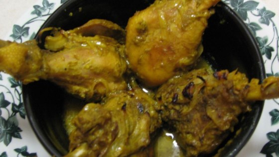 Spicy Indian Chicken with Green Masala